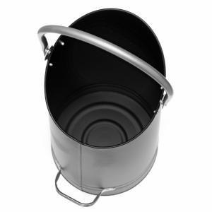 Raik Kohlekorb HAGEN, schwarz, mit silberfarbenen Griffen