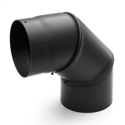 RR schwarz Ø150mm Bogen 0-90° ohne Tür
