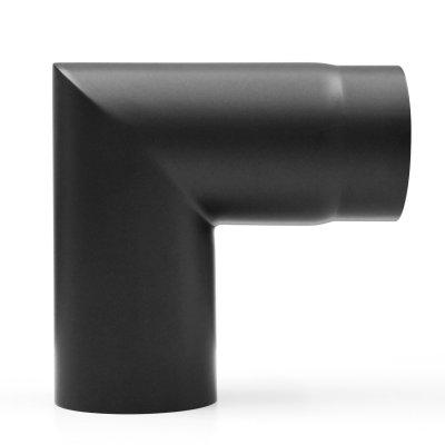 RR schwarz Ø150mm Bogen 90° - 2teilig mit...
