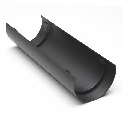Thermoschild gussgrau Rauchrohr L: 460mm Ø150mm