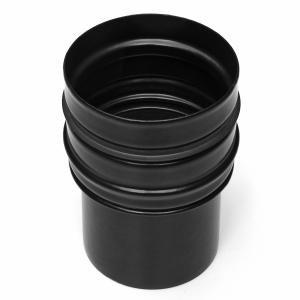 Erweiterung Ø80–100 mm; Pelletrohr; schwarz