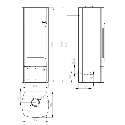 Nevado Aqua Compact Stahl schwarz/ Verkleidung ahorn