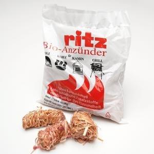 RITZ Bio-Kaminanzünder Großkarton mit 650 Stück (50 Beutel à 13 Stück)