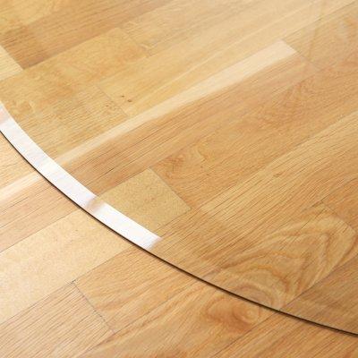 Glasbodenplatte Viertelkreis inkl. Facette 1200 x 1200 mm