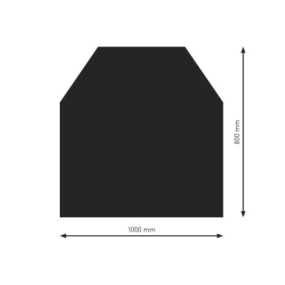 Bodenplatte B2 schwarz (2) 6-Eck  800x1000mm