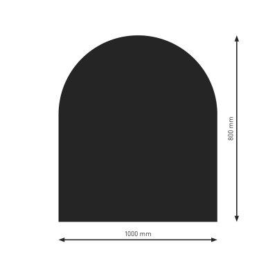 Bodenplatte B3 schwarz (2) Halbrund  800x1000mm