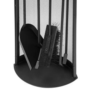 Raik Kaminbesteck 4-tlg ALBERT, schwarz