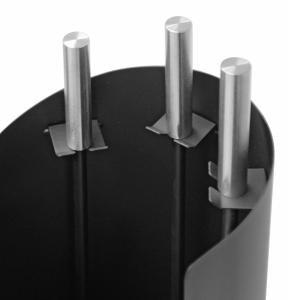 Raik Kaminbesteck FRITZ, 3-teilig, schwarz mit Edelstahlgriff