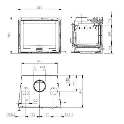 La Nordica Inserto 60 4.0 Ventilato Stahl Schwarz